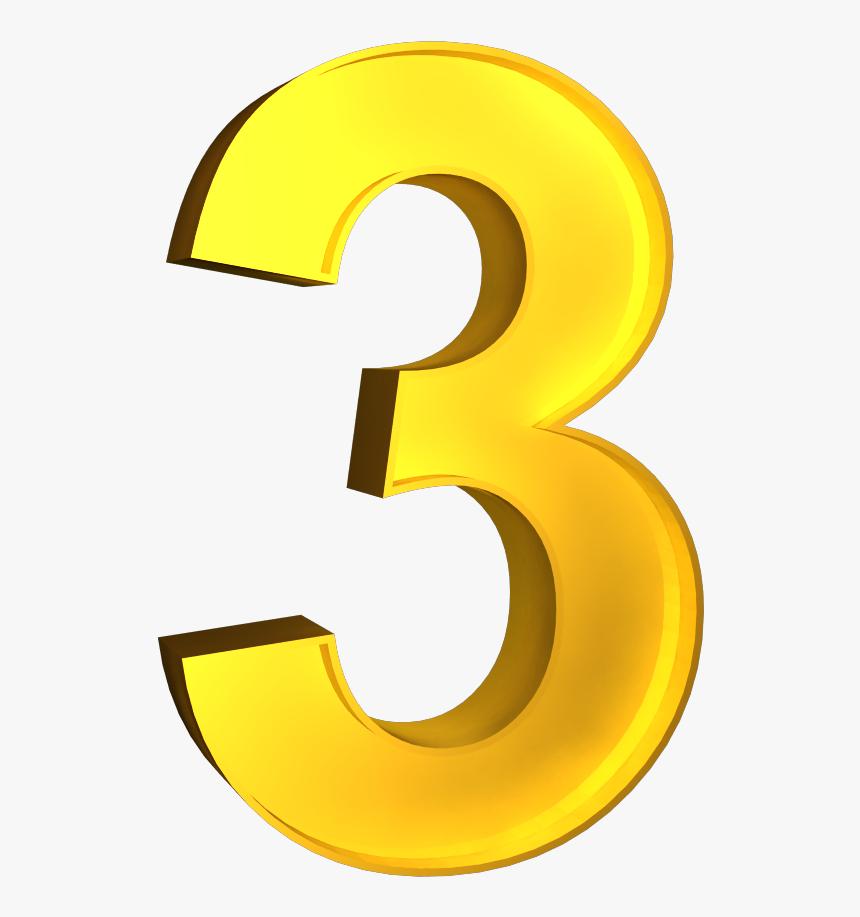3d Number 1 Png - 3d Number 3 Png, Transparent Png, Free Download