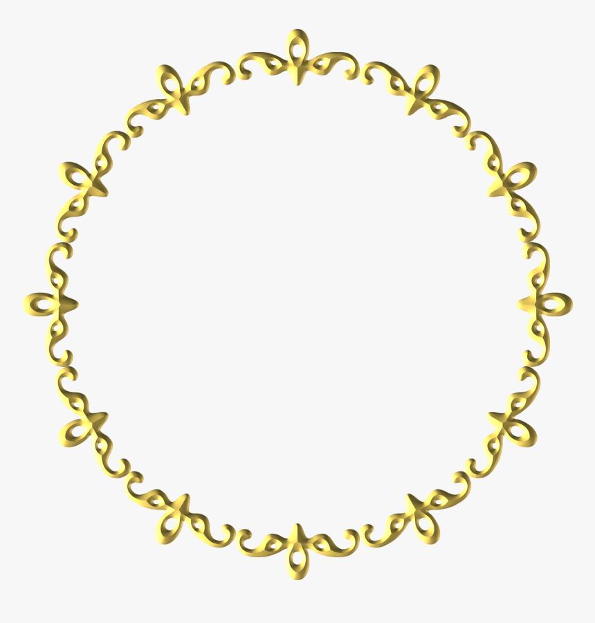 Gold, Frame, Round, Border, Decoration, Decor - Gold Round Border Design, HD Png Download, Free Download