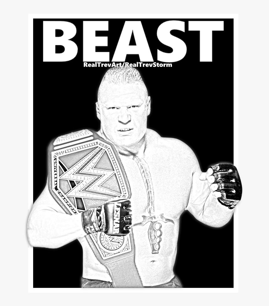 Wwe Brock Lesnar Cartoon, HD Png Download, Free Download