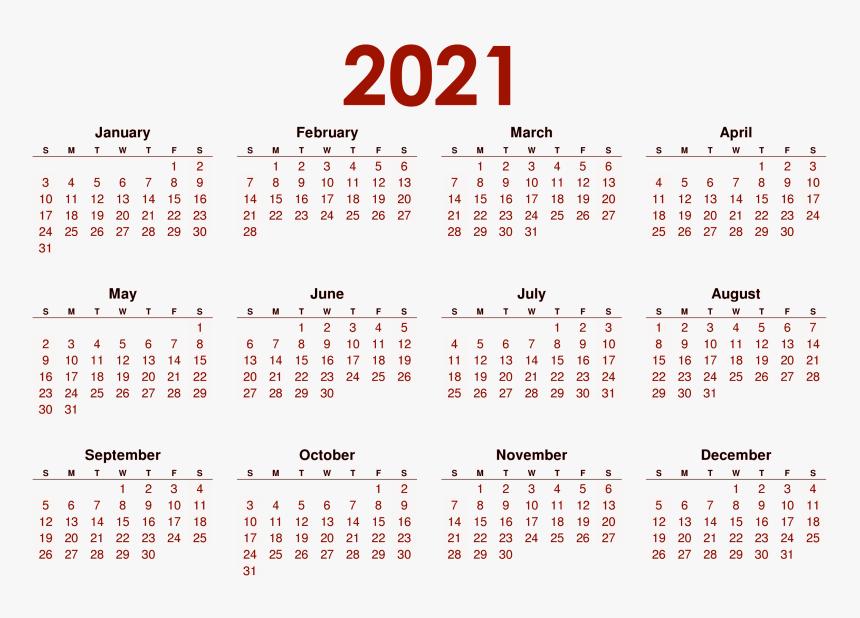 Calendar 2021 Png Images   2020 All Months Calendar, Transparent
