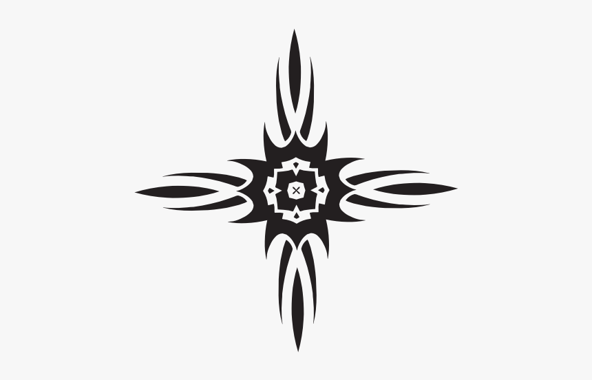 Cross Tribal Style - Line Art, HD Png Download, Free Download
