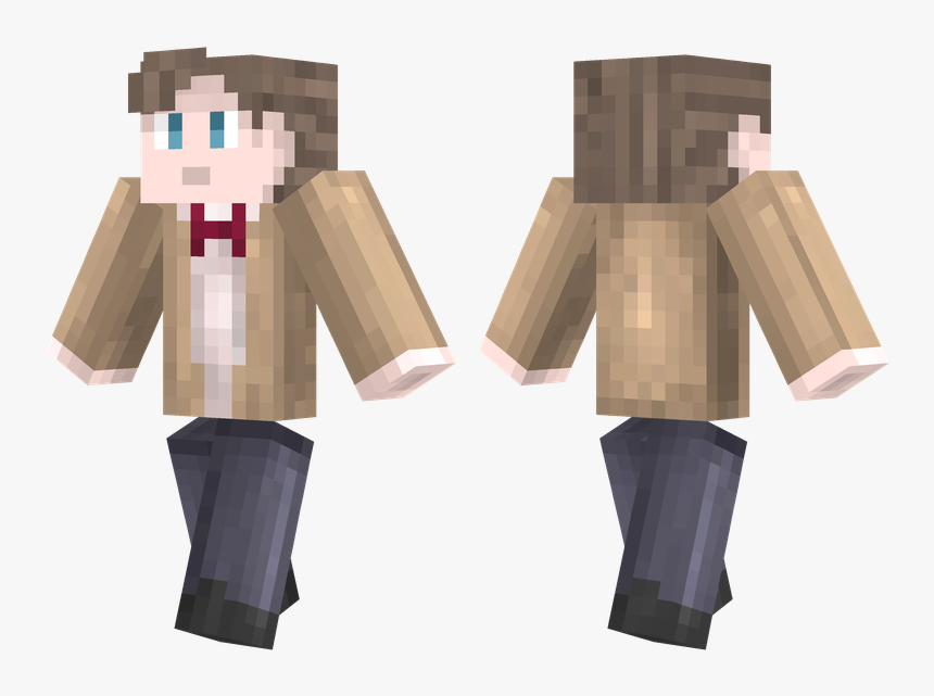 11th Doctor Minecraft Skin, HD Png Download, Free Download
