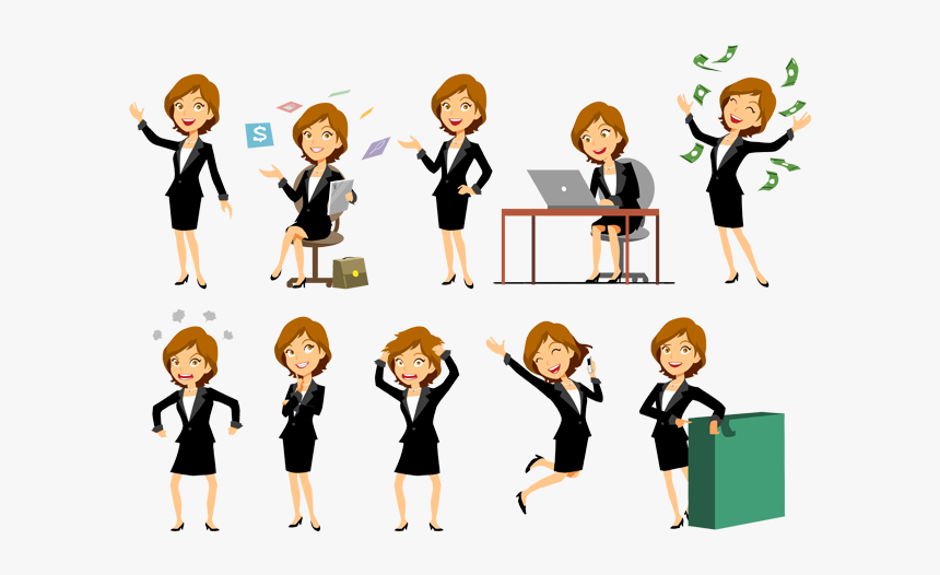 Thumb Image - Business Woman Vector Png, Transparent Png, Free Download