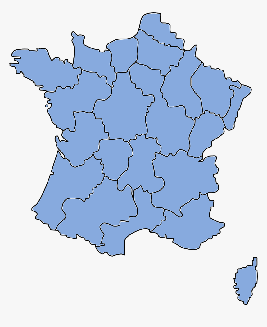 Cartoon Map Of France, HD Png Download, Free Download