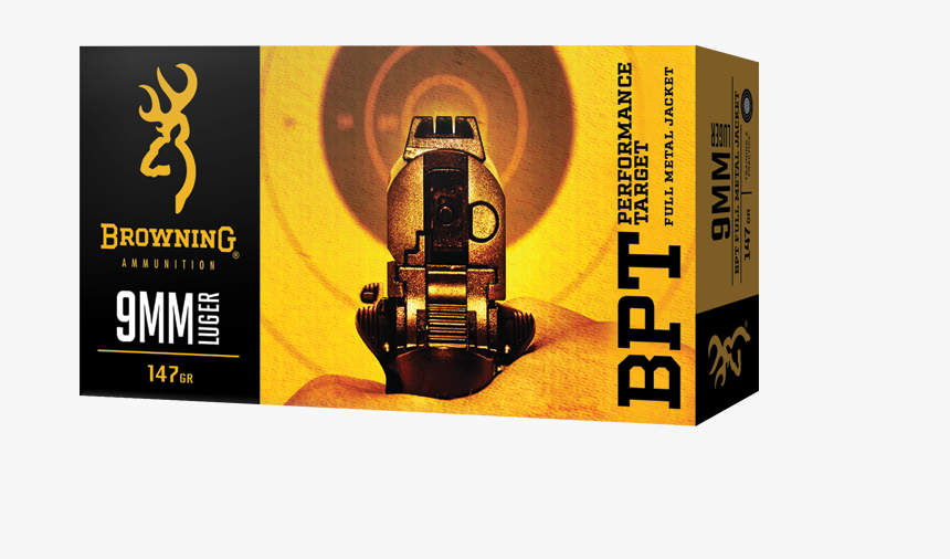 Browning 9mm Luger Ammo, HD Png Download, Free Download