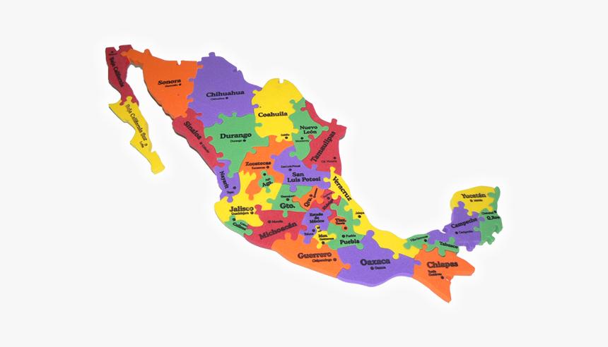Mapa De Mexico Rompecabezas Hd Png Download Kindpng