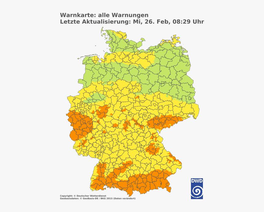 Warning Status For Germany - Deutscher Wetterdienst, HD Png Download, Free Download