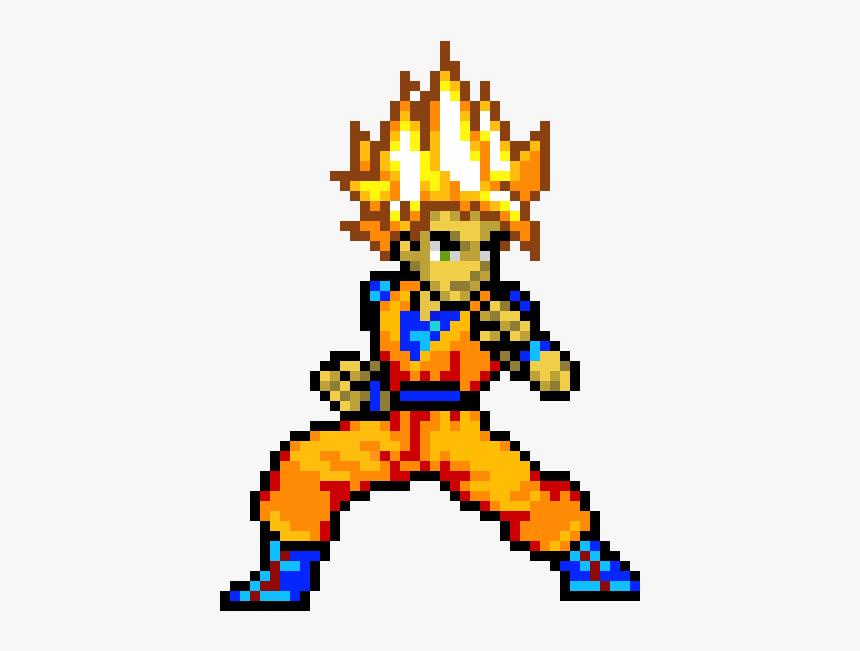 Goku Piskel, HD Png Download, Free Download