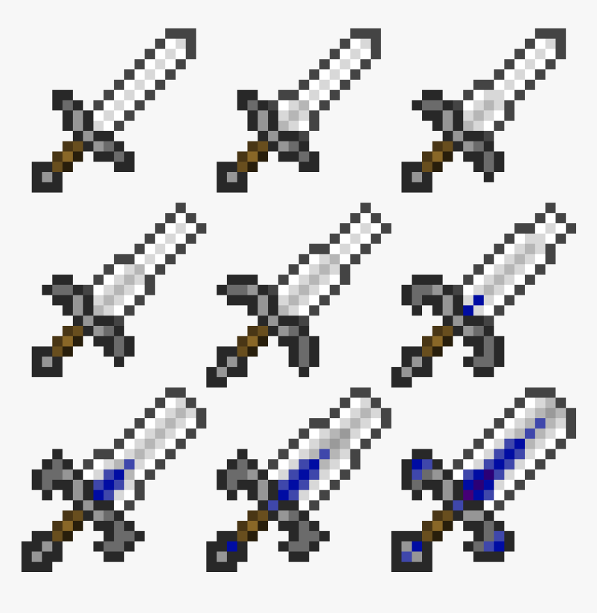 Minecraft Iron Sword, HD Png Download, Free Download