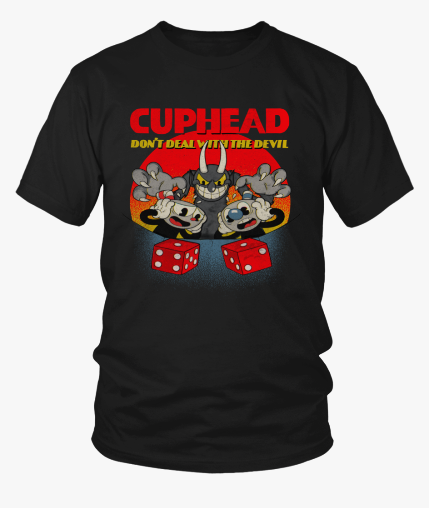 """Cuphead And Mugman Devil""""s Dice Video Game Don""""t Deal - T Shirt Cuphead And Mugman Devil's Dice, HD Png Download, Free Download"""