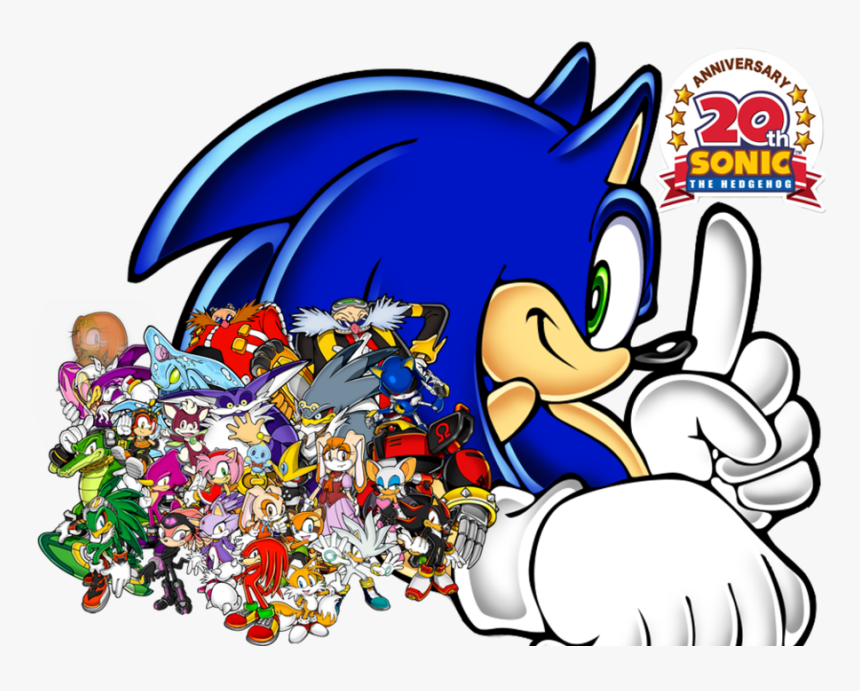Sonic Characters Wallpaper Sonic The Hedgehog 20th Hd Png Download Kindpng