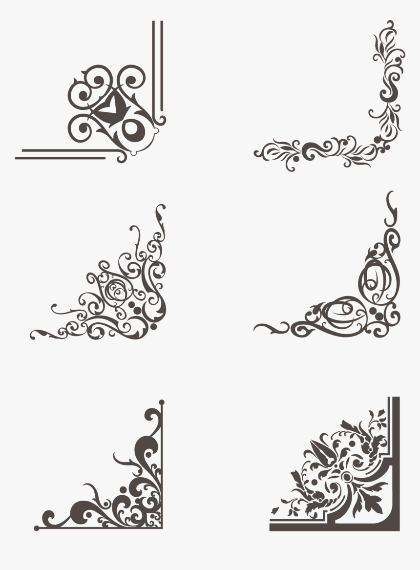 Border Greeting Card Brown Lace Png And Vector Wedding