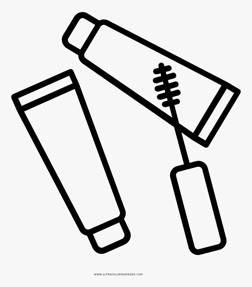 Maquiagem Coloring Page - Maquillaje Dibujos Para Colorear, HD Png Download, Free Download