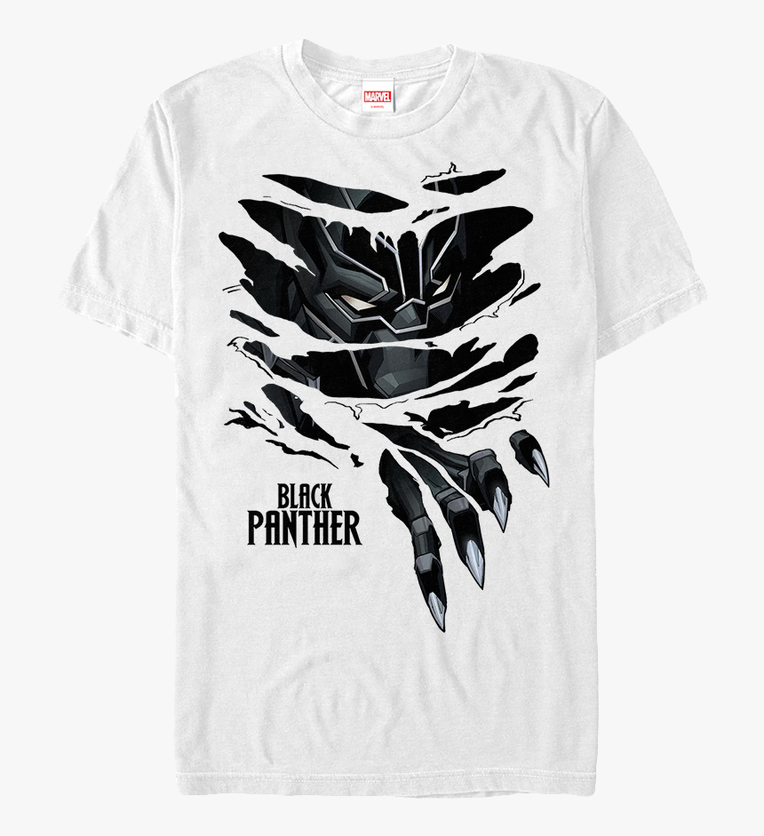 Ripped Black Panther T Shirt Panther Claw Ripping Shirt Hd Png Download Kindpng