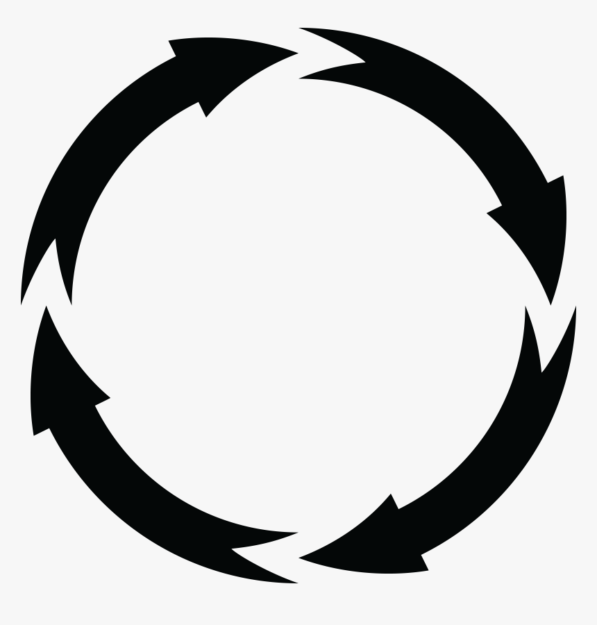 Transparent White Curved Arrow Png - Circle Arrows Free Transparent, Png Download, Free Download