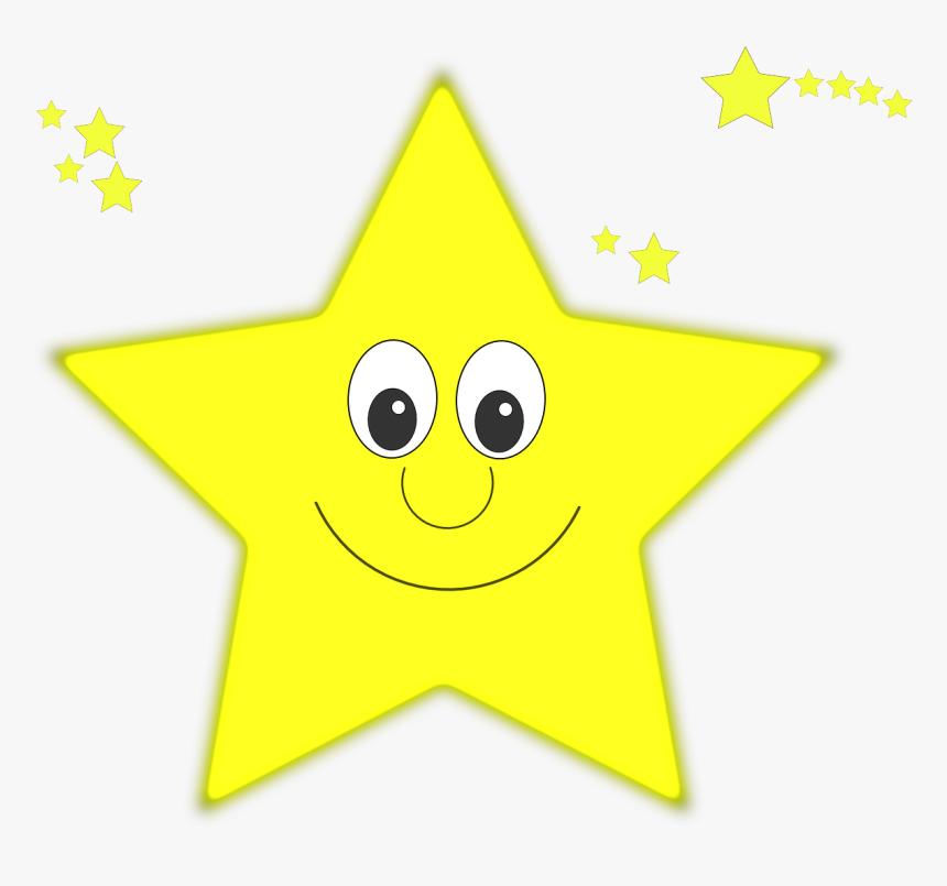 Estrellas, Amarillo, Cara, Sonrisa, Feliz - Greeting Eid Al Fitr, HD Png Download, Free Download