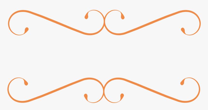 Free Laurel Frames &amp, Arrows Clip Art - Orange Divider Clip Art, HD Png Download, Free Download