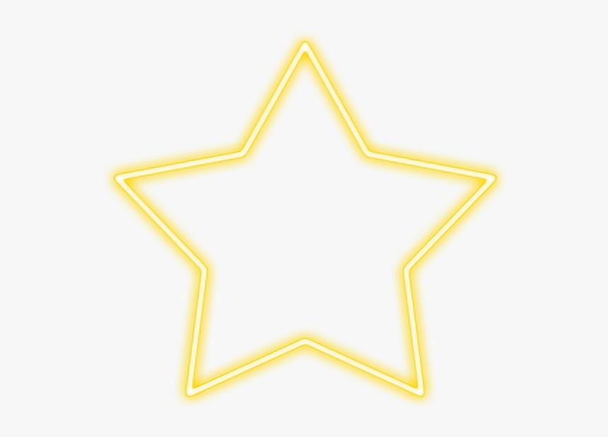 #neon #estrella #amarillo - Neon Frame Brick Background, HD Png Download, Free Download