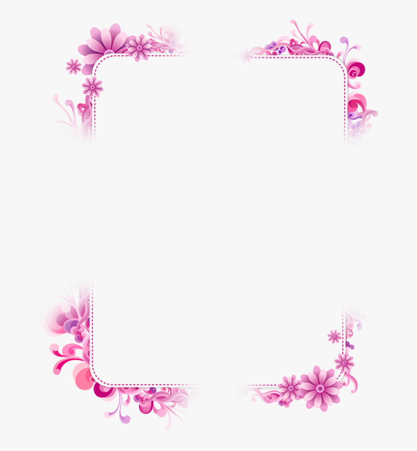 Transparent Chinese Cherry Blossom Clipart - Girly Borders And Frames, HD Png Download, Free Download