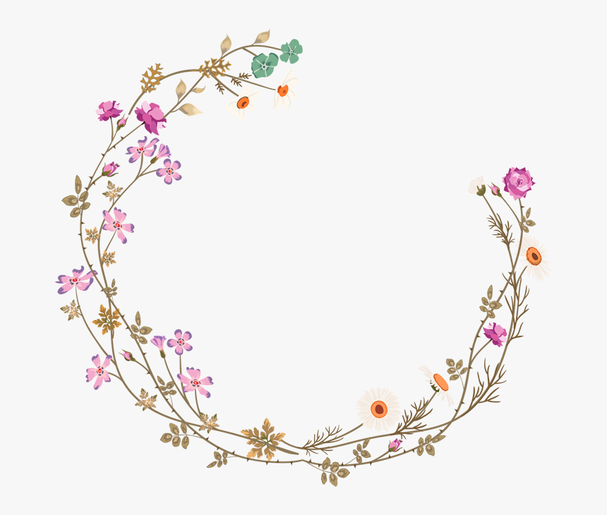 Hd And Picture Flower - Flower Circle Frame Png, Transparent Png, Free Download