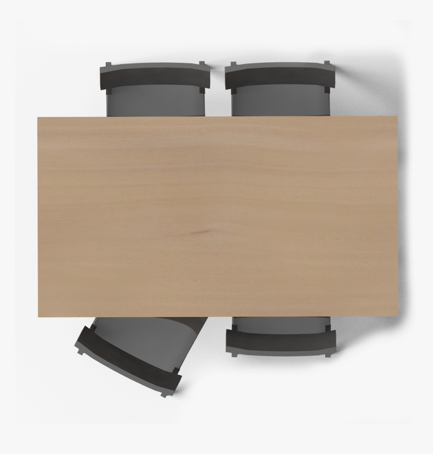 Dining Table Top View Clipart - Table & Chair Top View, HD Png Download, Free Download
