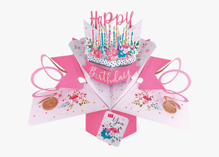 Happy Birthday 3d Pop Up Card, HD Png Download, Free Download