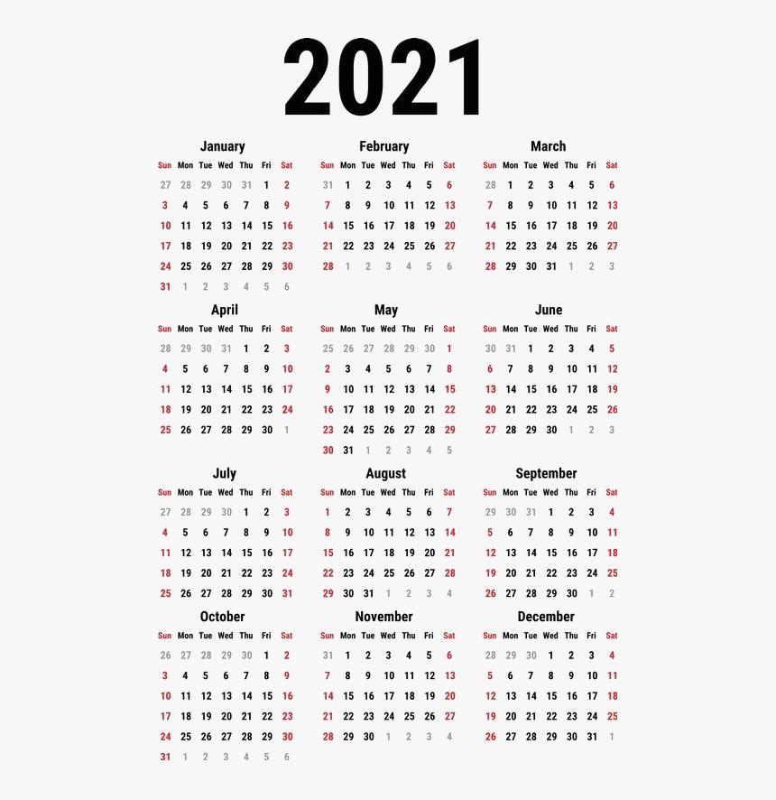 Calendar 2021 Png Clipart - 2021 Year 2021 Calendar ...