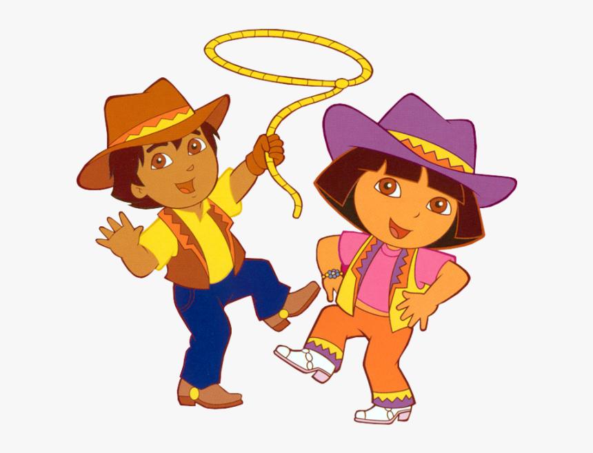 Dora La Exploradora Y Diego Crrvwj - Dora The Explorer Cowboy, HD Png Download, Free Download