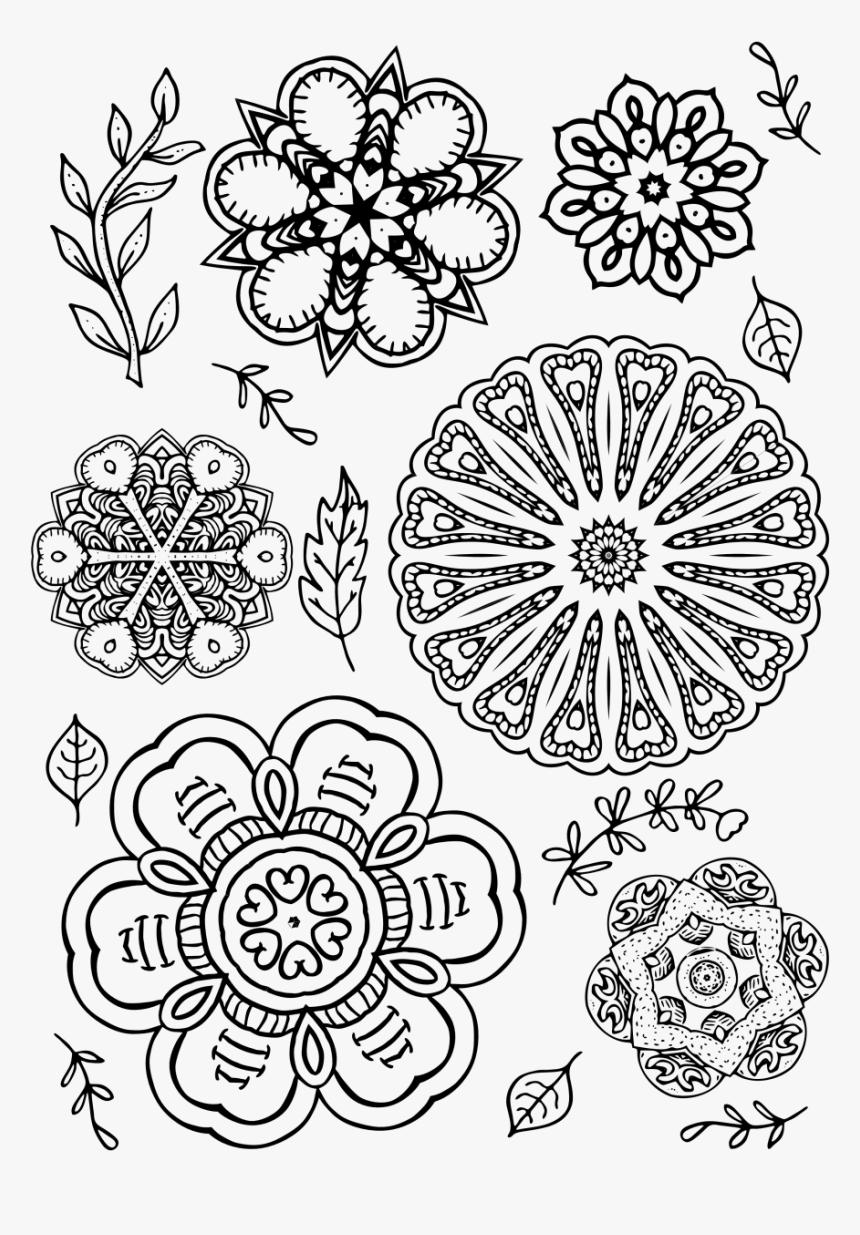 Mandala The 137 Small Mandalas Easy Designs Coloring - Floral Design, HD Png Download, Free Download