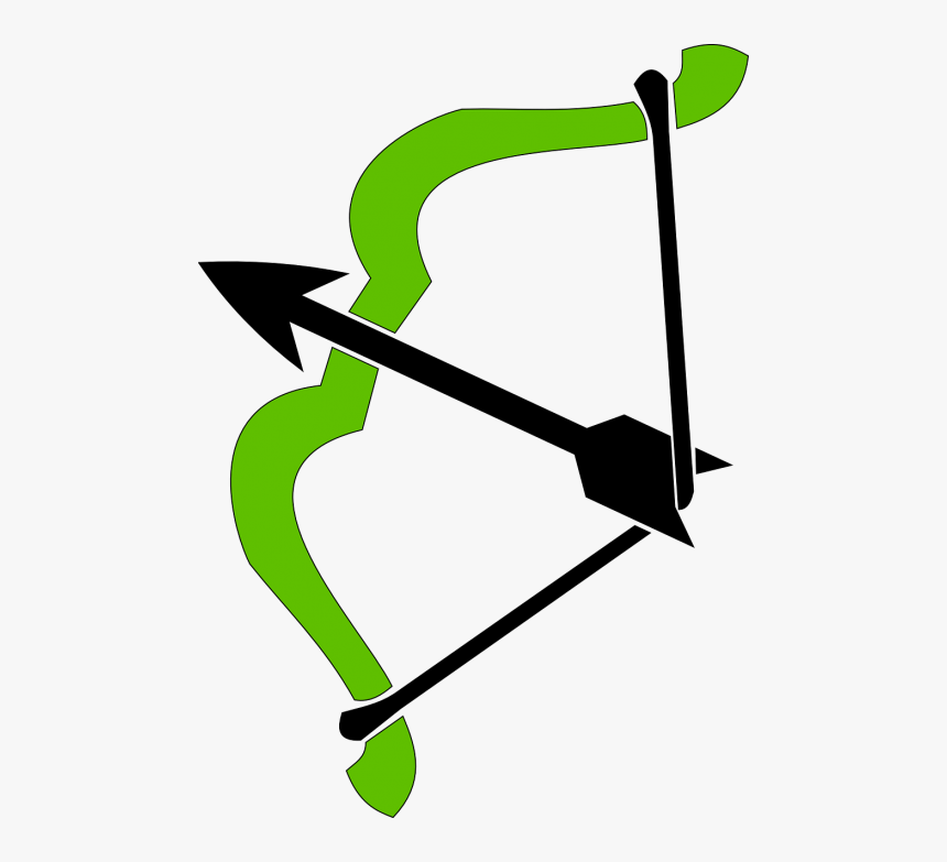 Bow Arrow Shaft - Green Bow And Arrow Png, Transparent Png, Free Download