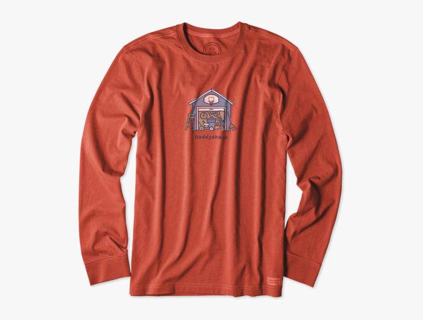 "Men""s Daddyshack Long Sleeve Crusher Tee - Long-sleeved T-shirt, HD Png Download, Free Download"