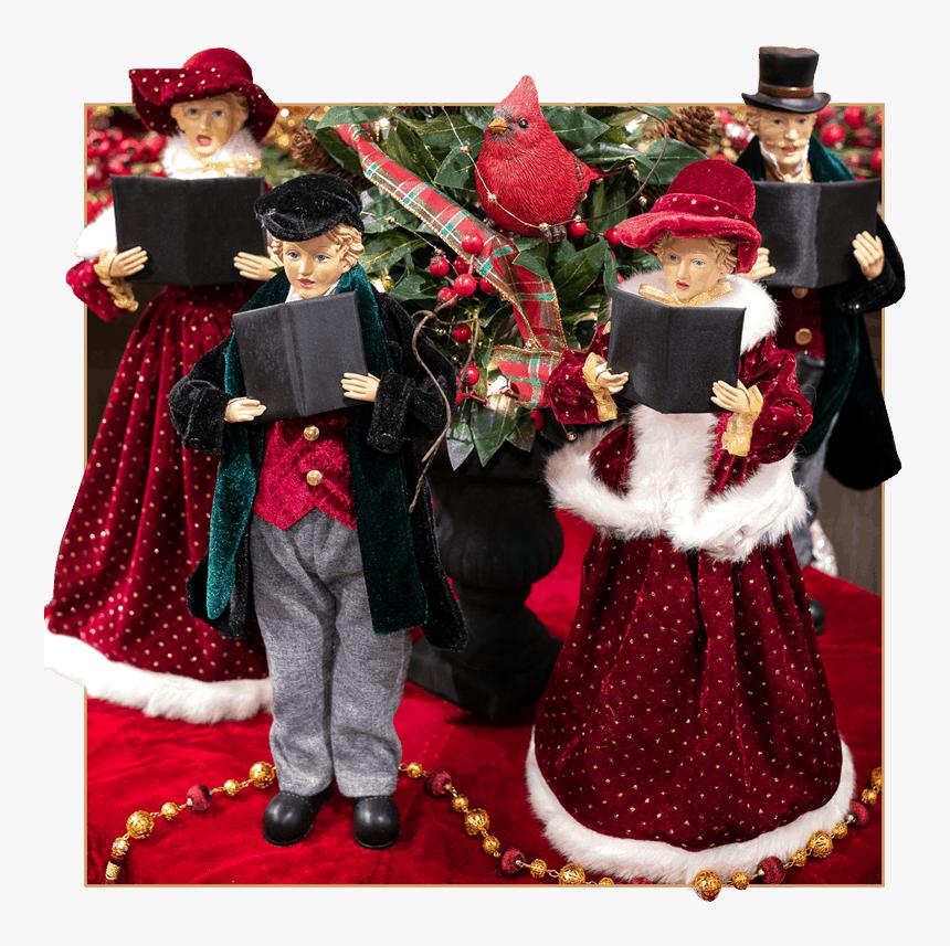 Christmas Carolers Holiday Decor - Christmas Carol, HD Png Download, Free Download
