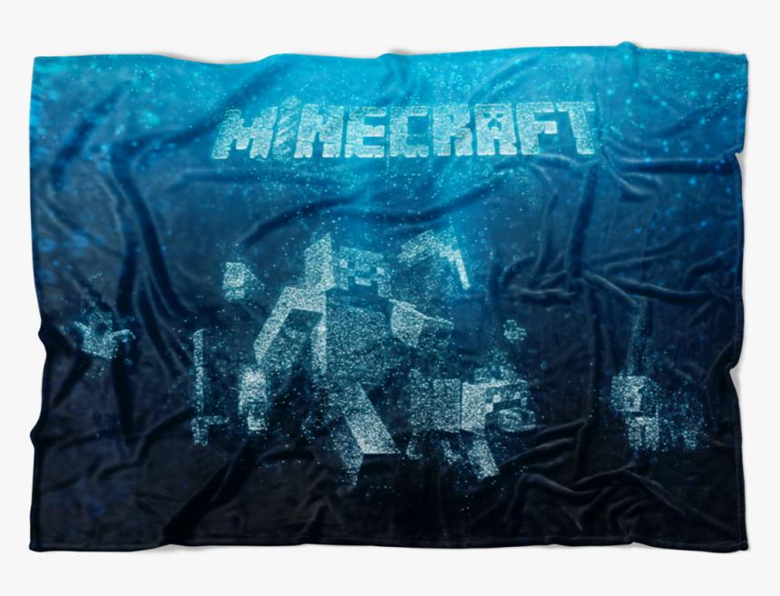 Minecraft Fleece Blanket Steve Bubbles Blue Blanket - Bed Sheet, HD Png Download, Free Download