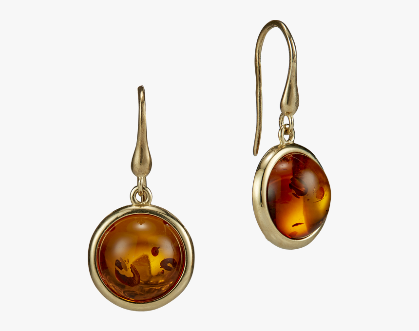 Our Selection Earrings In Cognac Amber And Gold - Earrings, HD Png Download, Free Download