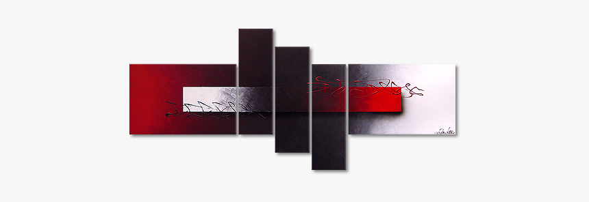 Modern Painting Opposites Attract 180x80cm - Graphic Design, HD Png Download, Free Download