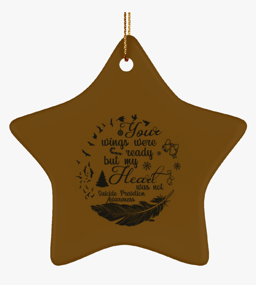 Suicide Prevention Awareness Star Ornament Merry Christmas - Christmas Rick Grimes, HD Png Download, Free Download