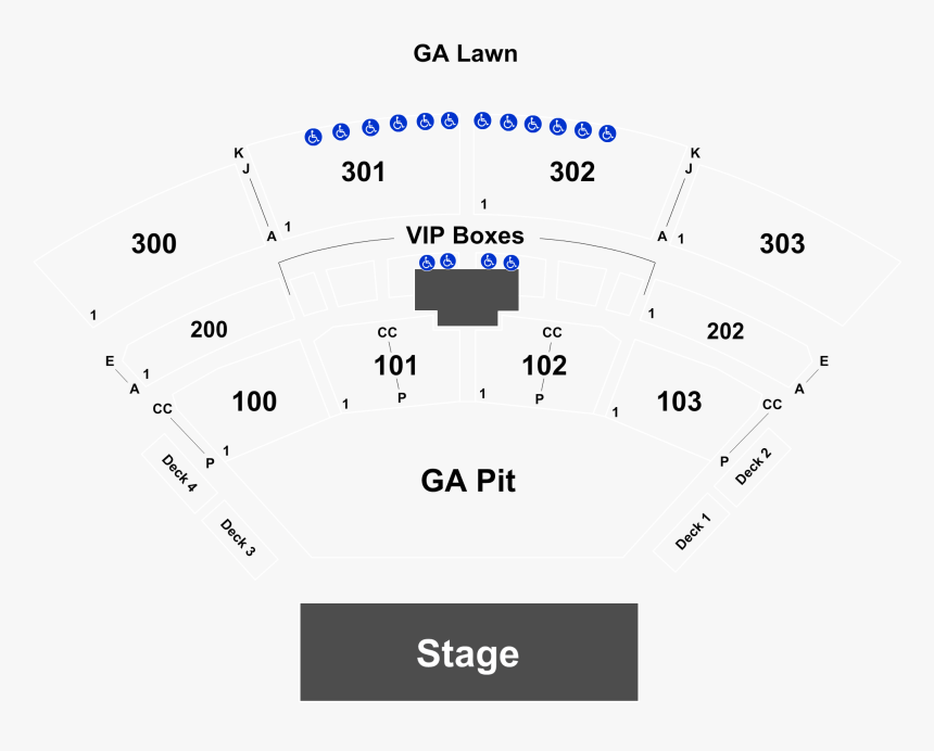 Row Aa The Pavilion Toyota Music Factory Seating Chart, HD Png Download, Free Download