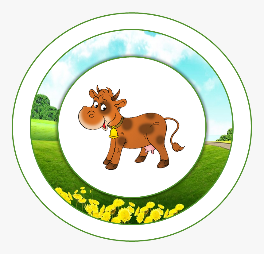 Topper O Etiqueta - Sticker Animales De La Granja De Zenon Para Imprimir, HD Png Download, Free Download