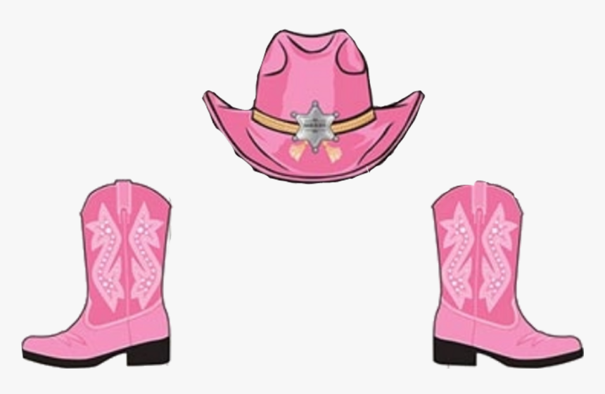Transparent Cowboy Boots And Hat Png - Pink Cowgirl Boots Clipart, Png Download, Free Download