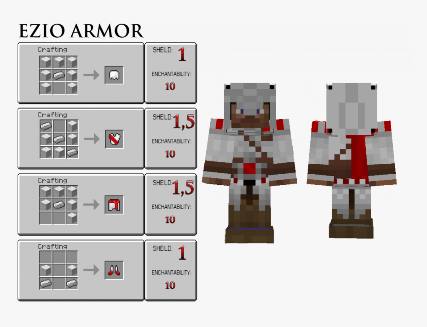 Assassincraft Mod Crafting Recipes Make A Assassins Creed Banner In M Hd Png Download Kindpng