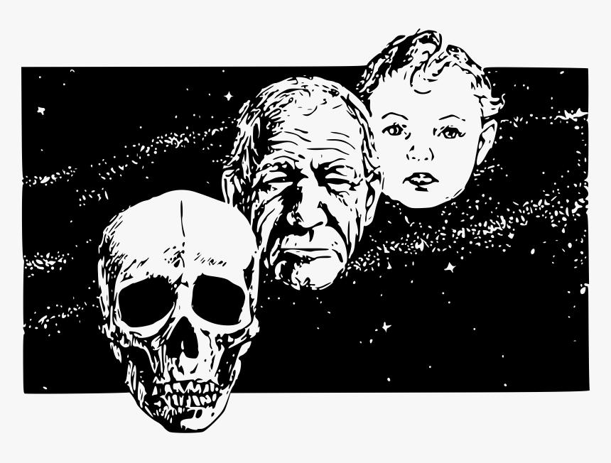 This Free Icons Png Design Of Skull Man Baby , Png - Determinacion De La Edad, Transparent Png, Free Download