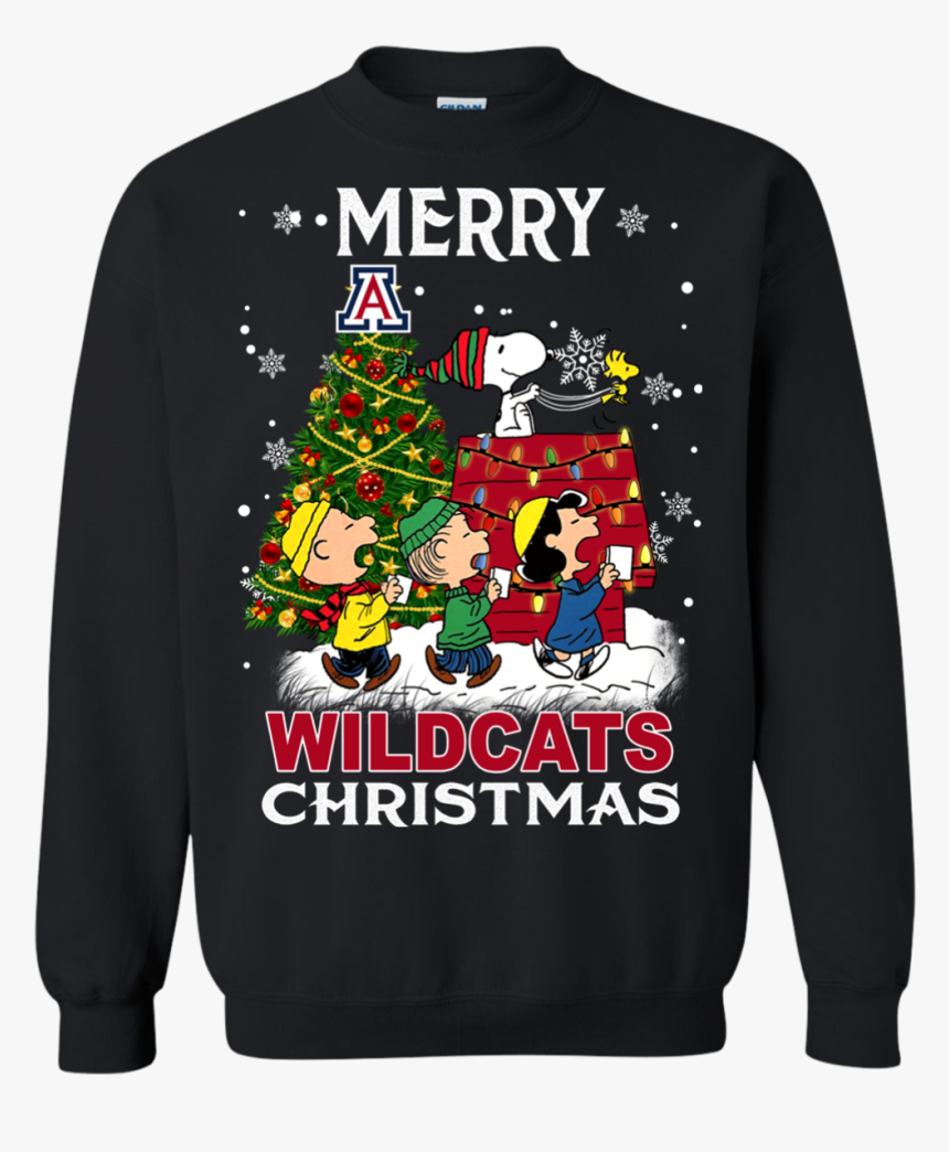 Arizona Wildcats Ugly Christmas Sweaters Snoopy And - Sports, HD Png Download, Free Download