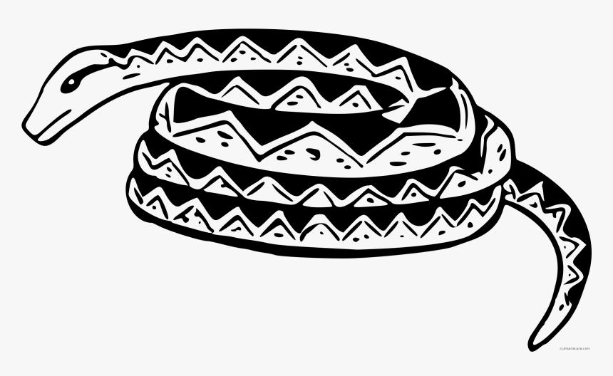 Black And White Snake Clipart Coiled Snake Clipart Black And White Hd Png Download Kindpng