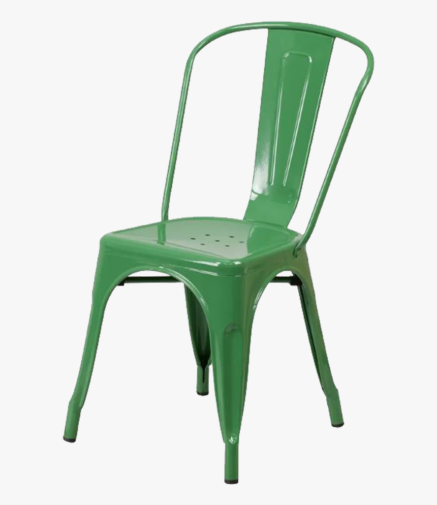 Metal Green Chair - Black Distressed Tolix Chair, HD Png Download, Free Download