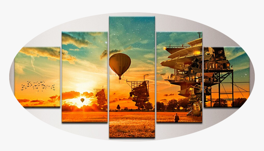 """""""looking Ahead"""" - Hot Air Balloon Concept Art, HD Png Download, Free Download"""