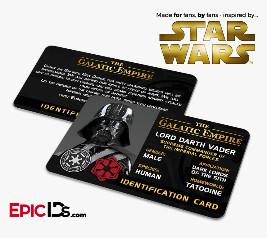 Star Wars Inspired - Identity Card Star Wars, HD Png Download, Free Download