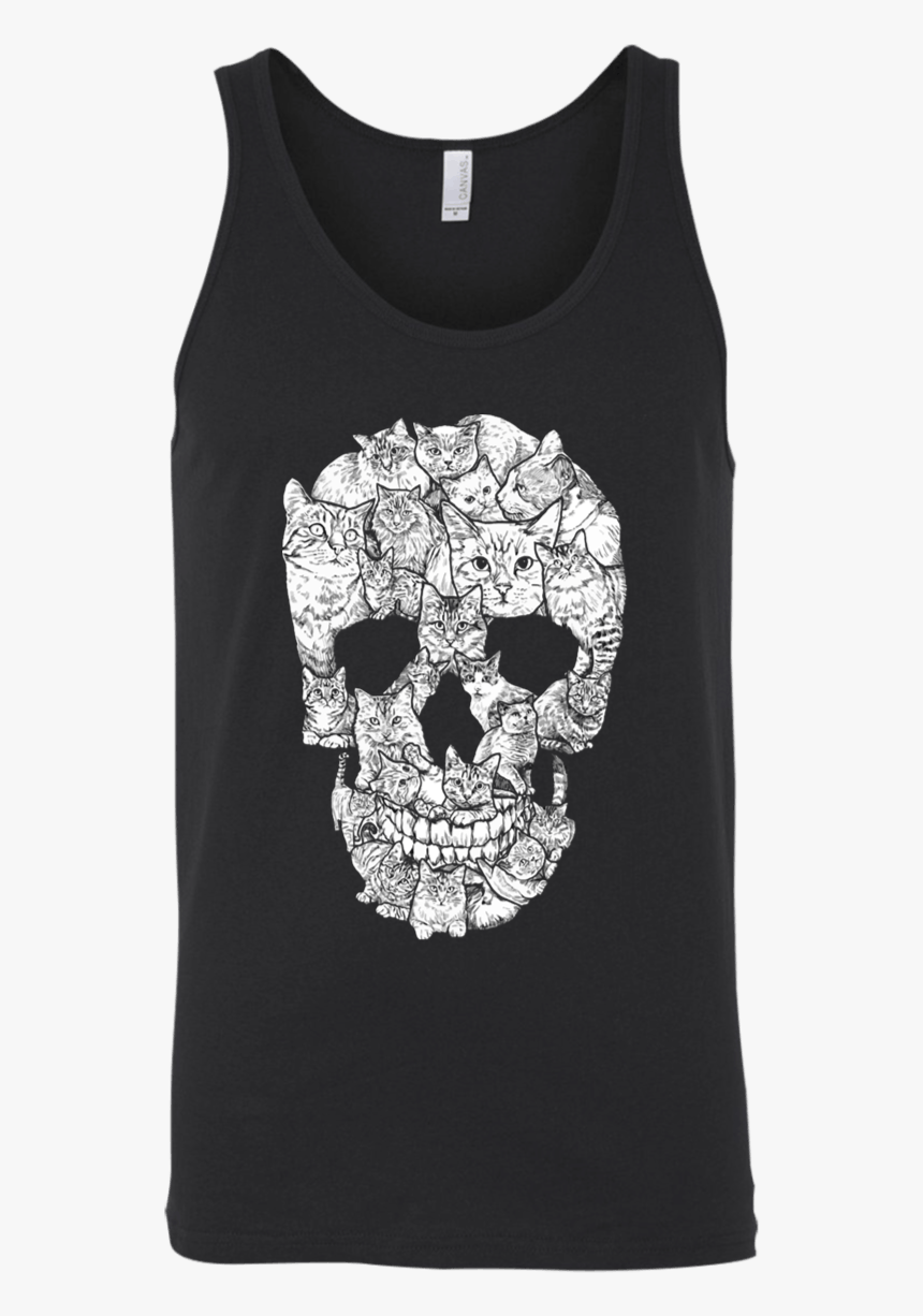 Skull Made Of Cats Shirt, HD Png Download, Free Download