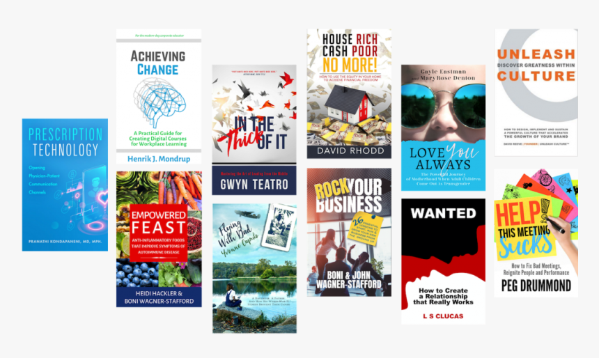 Staggered Books Transp - Flyer, HD Png Download, Free Download