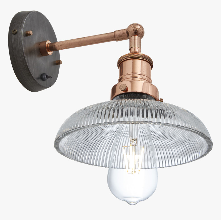 Brooklyn Glass Dome Wall Light - Industrial Balloon Light Cage Shade, HD Png Download, Free Download