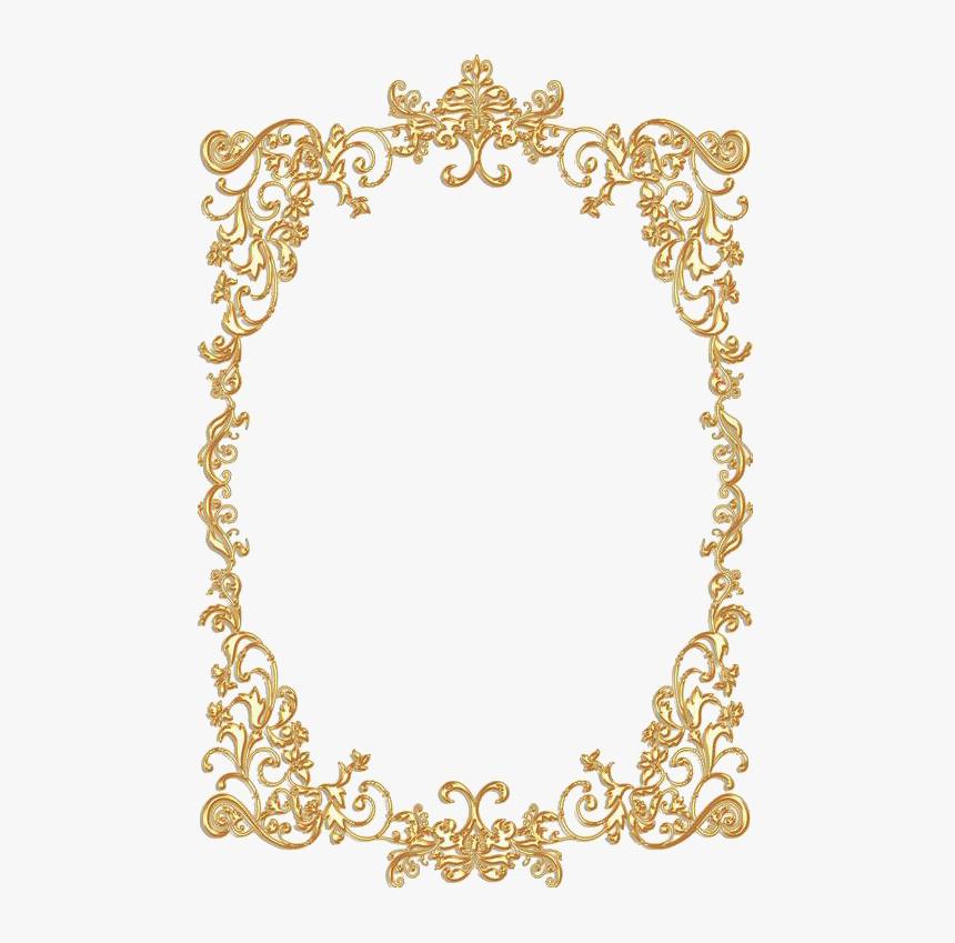 Golden Vintage Frame - Gold Vintage Frame Png, Transparent Png, Free Download